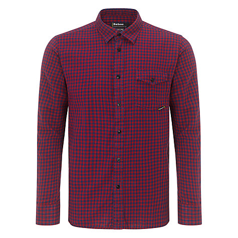 Buy Barbour International Brett Check Shirt, Red/Blue Online at johnlewis.com