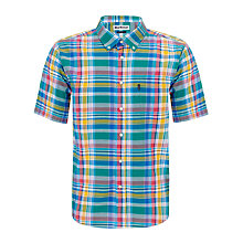 Buy Barbour Candlewood Short Sleeve Check Shirt, Green/Multi Online at johnlewis.com