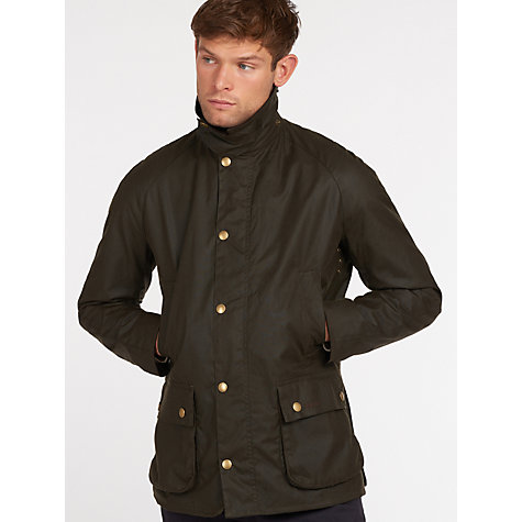 Buy Barbour Ashby Waxed Cotton Field Jacket, Olive Online at johnlewis.com