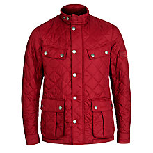 Buy Barbour Ariel Quilted Jacket, Biking Red Online at johnlewis.com