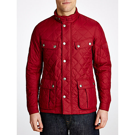 Buy Barbour International Ariel Quilted Jacket, Biking Red Online at johnlewis.com
