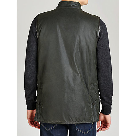 Buy Babour Westmorland Waxed Cotton Gilet, Sage Online at johnlewis.com