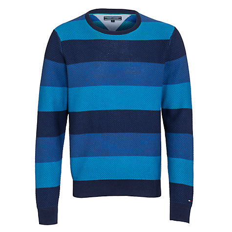 Buy Tommy Hilfiger Brody Striped Jumper, Blue/Navy Online at johnlewis.com