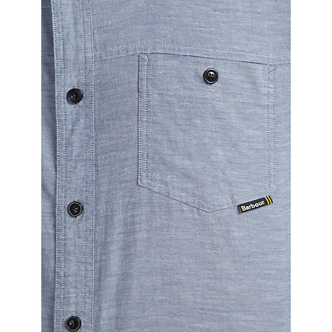 Buy Barbour International Calver Cotton Shirt, Blue Online at johnlewis.com