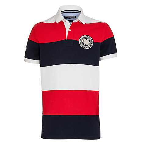 Buy Tommy Hilfiger Striped Cotton Polo Shirt, Multi Online at johnlewis.com