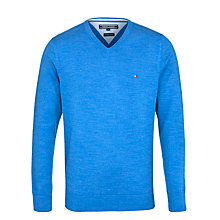 Buy Tommy Hilfiger Classic Cotton V-Neck Jumper Online at johnlewis.com