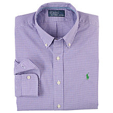 Buy Polo Ralph Lauren Gingham Check Shirt, Purple/White Online at johnlewis.com