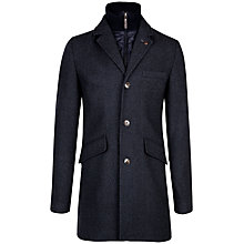 Buy Ted Baker Fozain Wool Coat, Navy Online at johnlewis.com