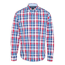 Buy Tommy Hilfiger Layton Check Long Sleeve Shirt, Blue/Red Online at johnlewis.com