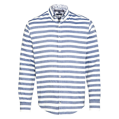 Buy Tommy Hilfiger Falko Stripe Cotton Shirt, Blue/White Online at johnlewis.com