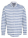 Tommy Hilfiger Falko Stripe Cotton Shirt, Blue/White