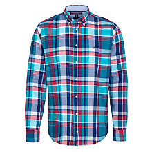 Buy Tommy Hilfiger Fayo Check Long Sleeve Shirt, Viridian Green/Multi Online at johnlewis.com