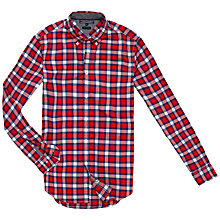 Buy Tommy Hilfiger New York Fit Check Shirt, Red/Multi Online at johnlewis.com