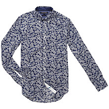 Buy Tommy Hilfiger Paisley Linen Shirt, Navy Online at johnlewis.com