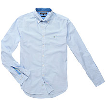 Buy Tommy Hilfiger New Glenn Long Sleeve Shirt, Light Blue Online at johnlewis.com