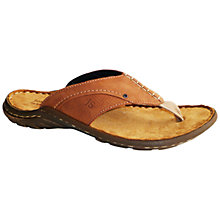 Buy Josef Seibel Logan 01 Leather Sandals, Nut Online at johnlewis.com