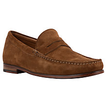Buy John Lewis Lloyd Suede Penny Loafer, Tan Online at johnlewis.com
