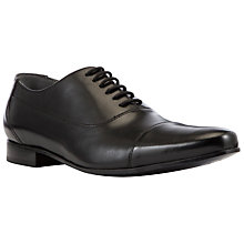 Buy Kin by John Lewis Alfie Leather Oxford Shoes, Black Online at johnlewis.com