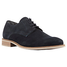 Buy Kin by John Lewis Bobby Suede Derby Shoes, Navy Online at johnlewis.com