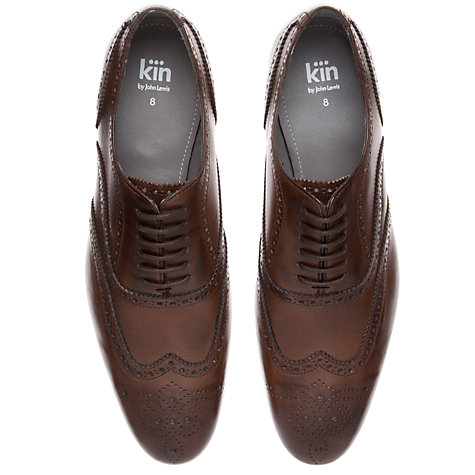 Buy Kin by John Lewis Archie Oxford Brogues, Burnished Brown Online at johnlewis.com