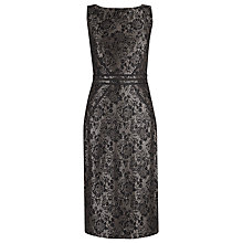 Buy Alexon Contrast Lace Dress, Black Online at johnlewis.com