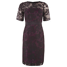 Buy Kaliko Burnout Shift Dress, Purple Online at johnlewis.com