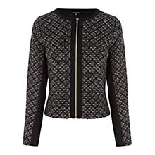 Buy Warehouse Textured Bonded Jacket, Grey Online at johnlewis.com