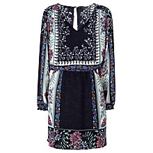 Buy Warehouse Placement Floral Batwing Dress, Multi Online at johnlewis.com