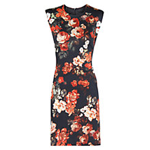 Buy Mango Floral Print Pencil Dress, Black Online at johnlewis.com