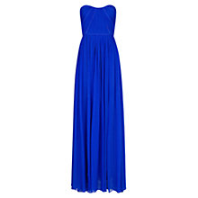 Buy Mango Sleeveless Silk Ruched Gown Online at johnlewis.com