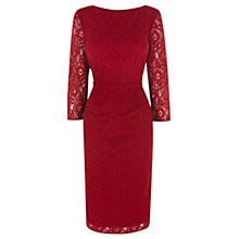 Buy Oasis Lace Midi Dress, Mid Red Online at johnlewis.com