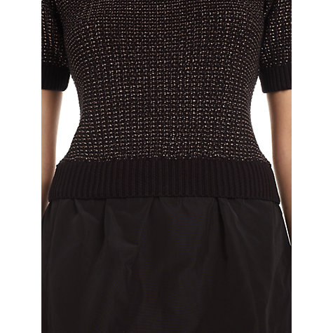 Buy Jigsaw Sparkle Taffeta Dress, Black Online at johnlewis.com