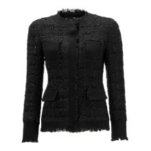 Buy Jigsaw Sparkle Tweed Jacket, Black Online at johnlewis.com