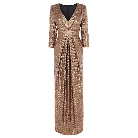 Buy Coast Stardust Maxi Dress, Gold Online at johnlewis.com