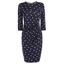 Buy Warehouse Swallow Print Dress, Blue Online at johnlewis.com