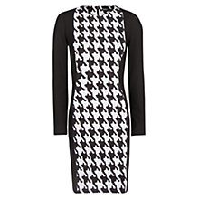 Buy Mango Pencil Houndstooth Dress, Black Online at johnlewis.com