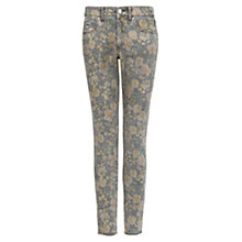 Buy Mango Distressed Floral Trousers, Black Online at johnlewis.com
