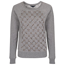 Buy French Connection Jacqui Dazzle Sweatshirt, Grey Melange Online at johnlewis.com