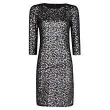 Buy Mango Sequinned Tailored Dress, Black Online at johnlewis.com