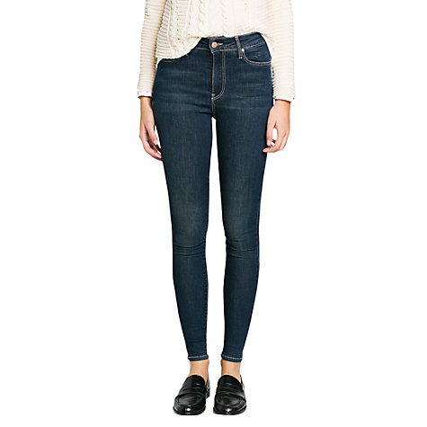 Buy Mango Super High Waisted Jeans, Dark Blue Online at johnlewis.com