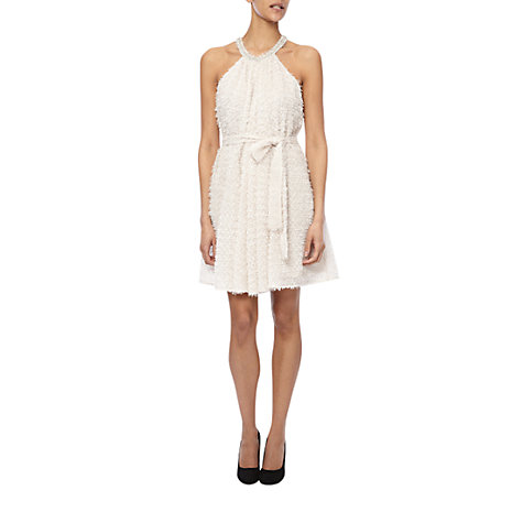 Buy French Connection Glitter Whisper Halter Dress, Snowball Online at johnlewis.com