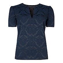 Buy Ted Baker Dahliah Jacquard Top, Navy Online at johnlewis.com