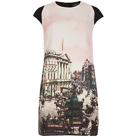 Buy Ted Baker Adsila Printed Tunic Dress, Light Pink Online at johnlewis.com