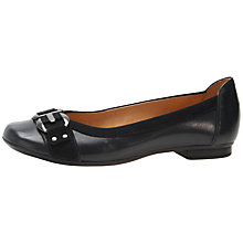 Buy Gabor Montana Buckle Detail Leather Pumps, Navy Online at johnlewis.com