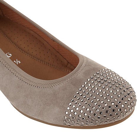 Buy Gabor Mira Suede Pumps, Beige Online at johnlewis.com