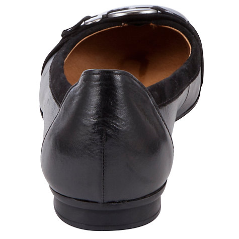 Buy Gabor Montana Ballerinas, Black Online at johnlewis.com