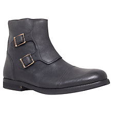 Buy KG by Kurt Geiger Micham Monk Strap Boots, Black Online at johnlewis.com