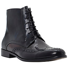 Buy Bertie Memento Brogue Boots, Black/Multi Online at johnlewis.com
