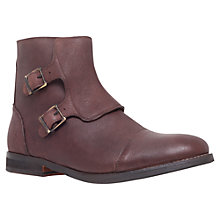 Buy KG by Kurt Geiger Micham Monk Strap Boots, Brown Online at johnlewis.com