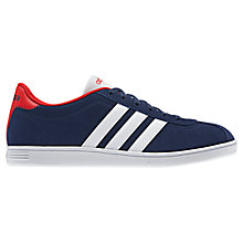 Buy Adidas Vlneo Suede Court Trainers Online at johnlewis.com
